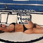 You can't get any better that Sophia Richie wearing a black thong bikini on vacation on a beautiful yacht. Her body is toned to perfection.