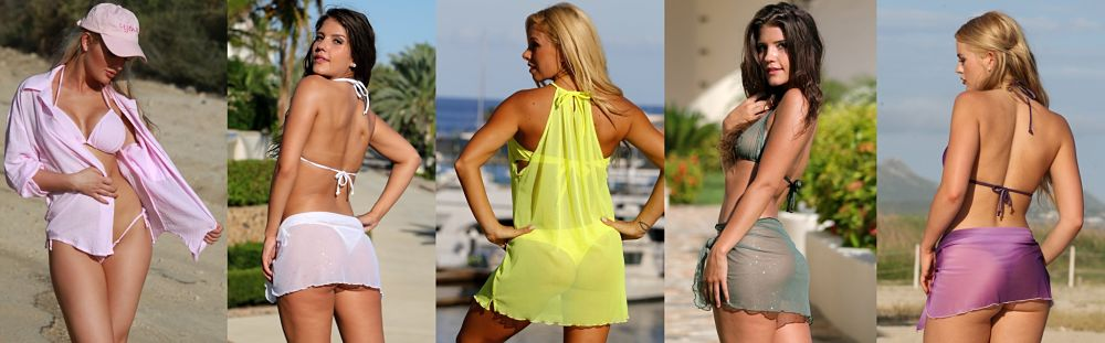 Thong Bikini Cover-Ups and Sarongs add a new level of sex appeal to your swimwear choice.