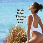 Olivia Culpo rocks in this sexy white one piece thong swimsuit in sheer white fabric