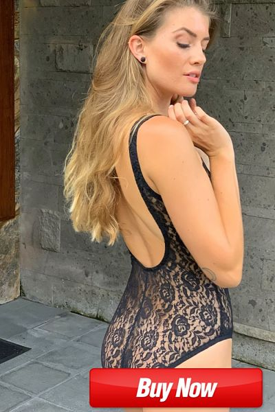 A marvelous example of a sexy sheer see thru one piece swimsuit that is manufactured from elegant sheer black lace fabric