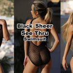 Sheer Swimsuit See Through One Piece Black