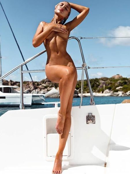 Gabrielle Epstein nude on the yacht. Another truly classic photo of Gabby