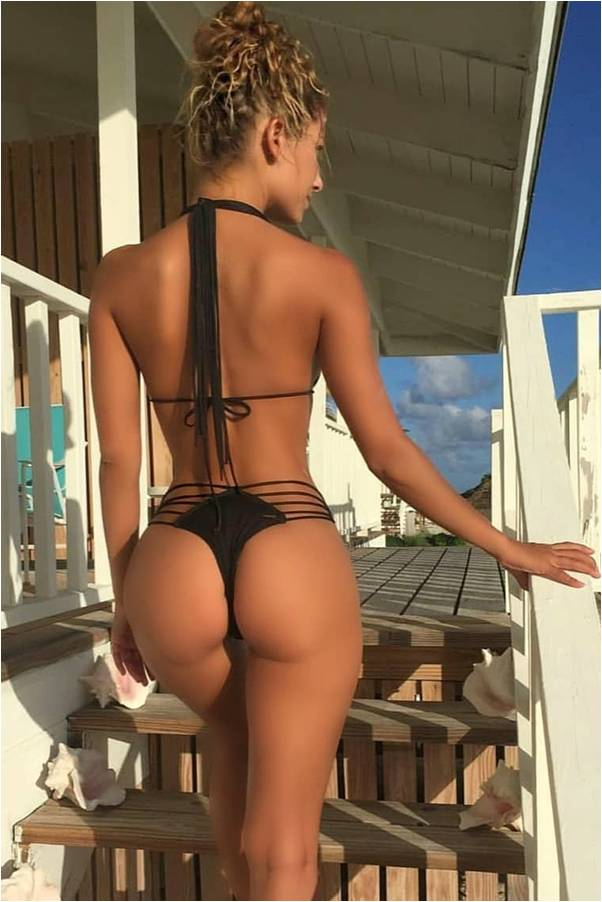 A multi strap thong two piece swimsuit for Sierra Skye