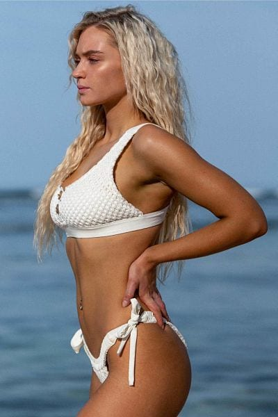 Lucie-Donlan-Sizzling-String-White-Thong-Swimsuit