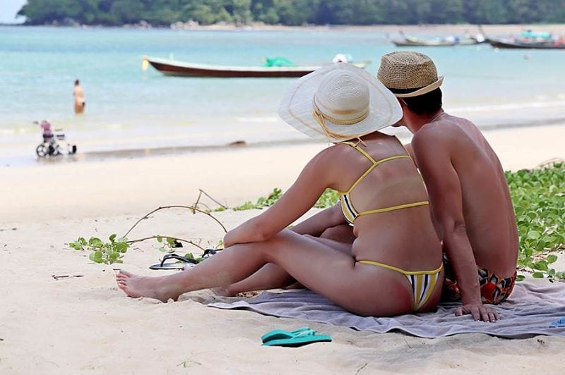 Me and My Husband Vacation Wearing Thong Bikini First Time at Thirty Eight years Old