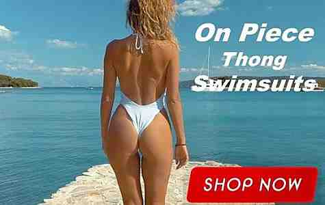 So hot, the one piece thong swimsuit is simply breathtaking, high cut thighs, scoop bust line and back