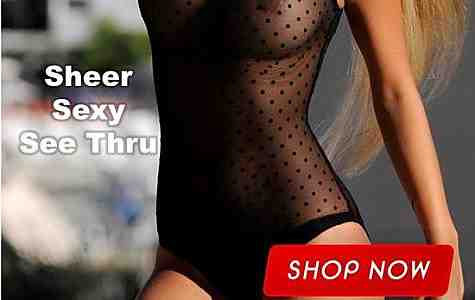 Totally Sheer One Piece Swimsuits - See Thru